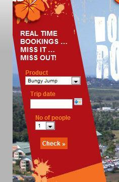 Integrated product bookings